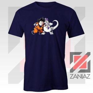 Goku Saiyan Family Guy Navy Blue Tshirt