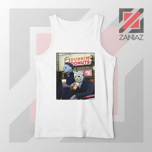Michael Myers Donuts White Tank Top