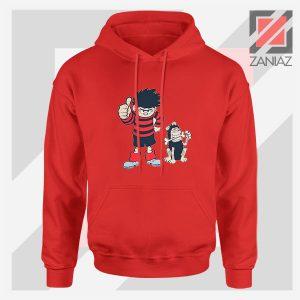 Save Gnasher Cartoon Design Red Hoodie