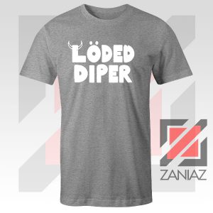 Save Loded Diper Music Logo Grey Tshirt