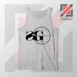Sniper Gang Music Design Grey Tank Top