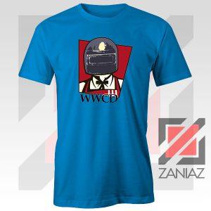 War KFC Chicken Parody Blue Tee