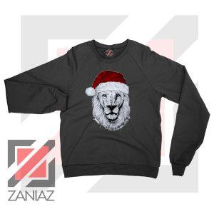 Father Christmas Lion Black Sweatshirt